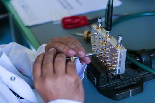 taratura meccanica filtro passa banda